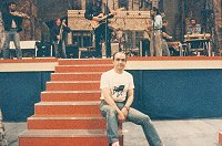 Maurice was playing with Kimmie Rhodes in 1989, here seen in front of Asleep at the Wheel at Wembley!